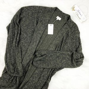 NWT Lucky Brand Open Front Cardigan
